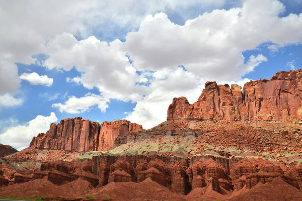 Photograph - Fluted Wall Overlook In Capitol Reef by Ray Mathis