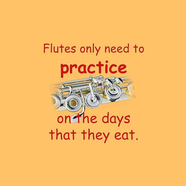 Photograph - Flutes Practice When They Eat by M K Miller