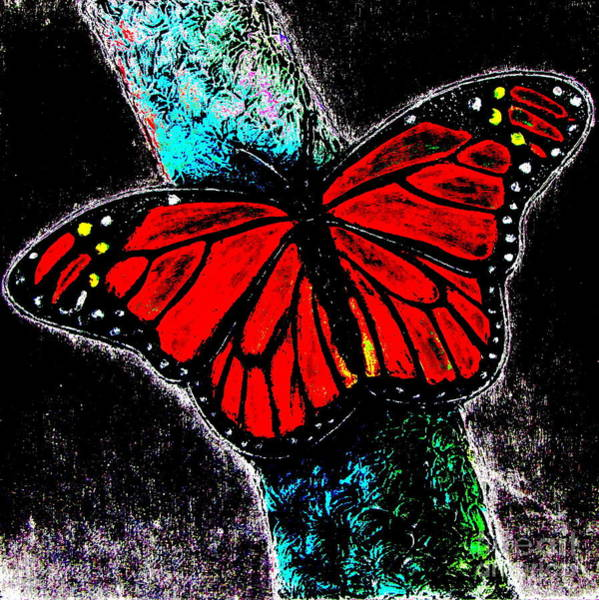 Flutterby Wall Art - Digital Art - Flutterby 7 by Pamela Iris Harden