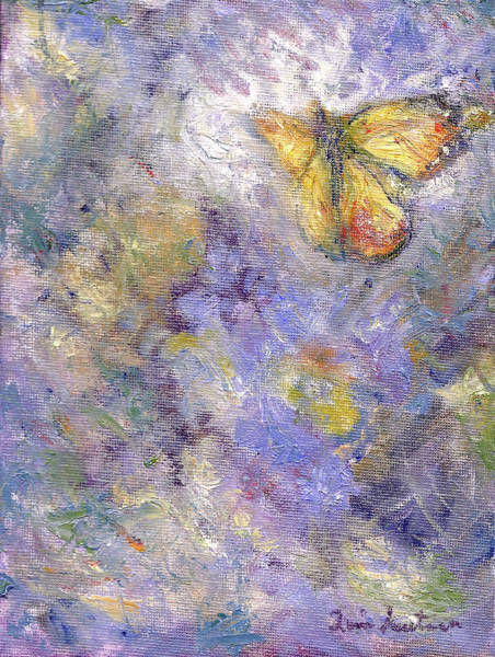 Painting - Flutterby - Original Butterfly In Flight Painting by Quin Sweetman