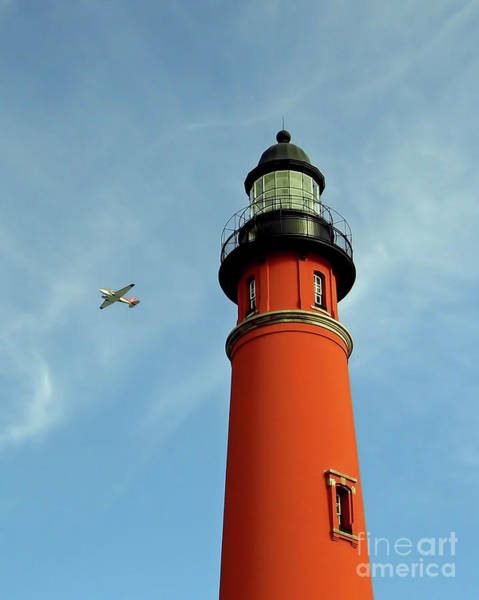 Photograph - Fly By At The Lighthouse by D Hackett
