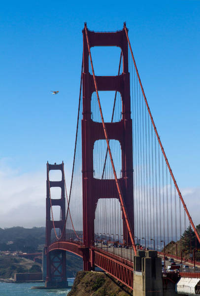 Photograph - Fly By At The Golden Gate Bridge by Bonnie Follett