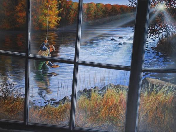Fly Fisher Art Print