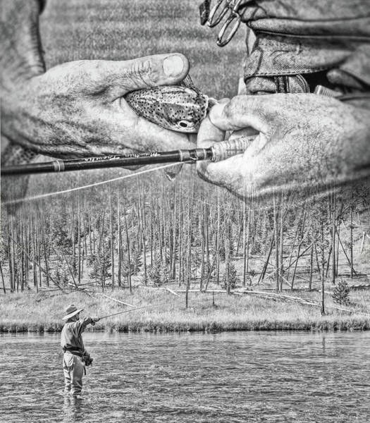 Wall Art - Photograph - Fly Fishing Dream Monochrome by Jennie Marie Schell