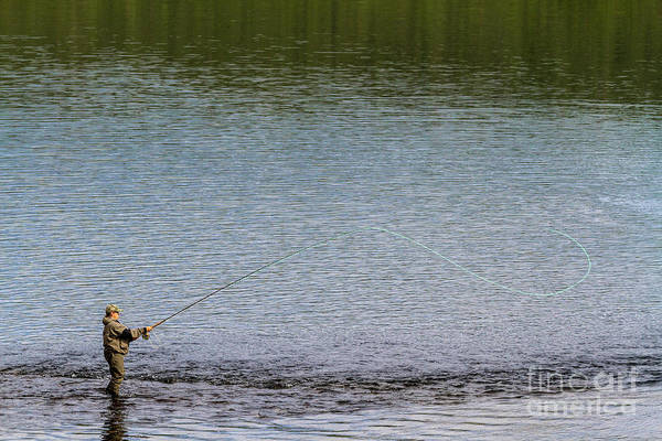 Photograph - Fly-fishing by Heiko Koehrer-Wagner