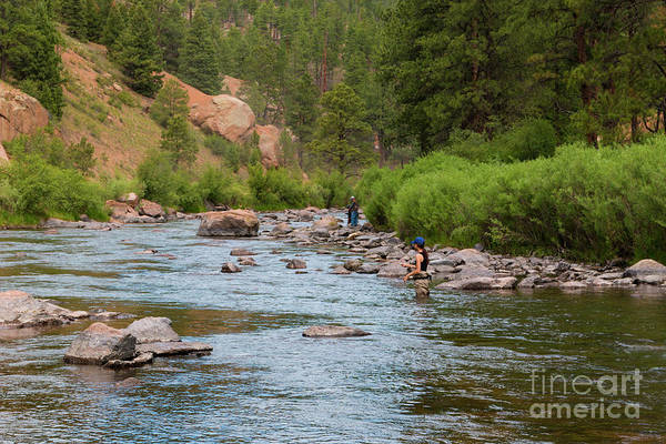 Photograph - Fly Fishing On The Platte by Steve Krull