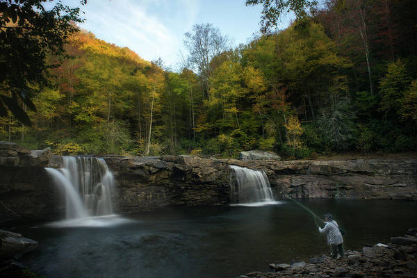 Photograph - Fly Fishing Under The Falls by Dan Friend
