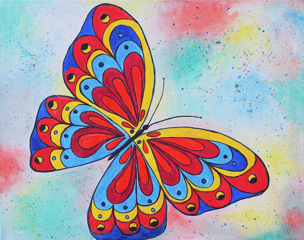 Wall Art - Painting - Fly Fly The Butterfly by Iryna Goodall