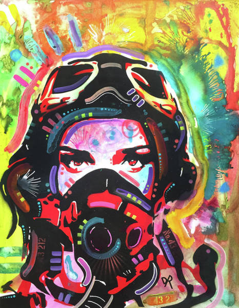 Painting - Fly Girl Red Shadow by Dean Russo Art