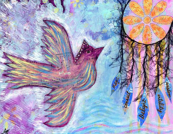 Spiritual Wall Art - Photograph - Fly Into Your Sweet Dreams by Julia Ostara From Thrive True dot com