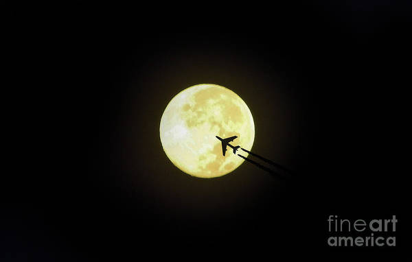 Digital Art - Fly Me To The Moon by D Hackett