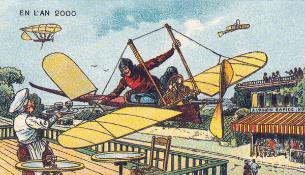Photograph - Fly-thru Cafe, 1900s French Postcard by Science Source