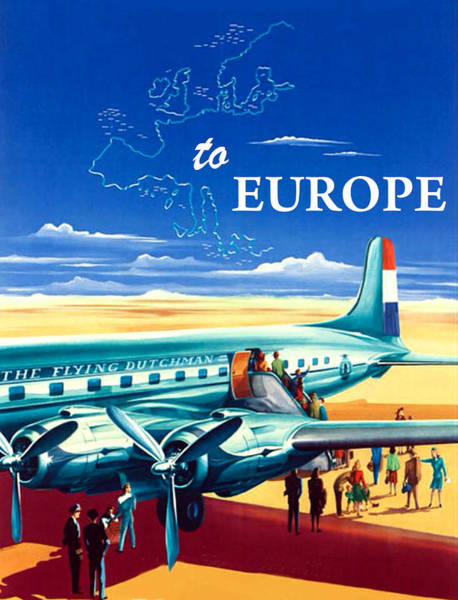 Wall Art - Painting - Fly To Europe by Long Shot