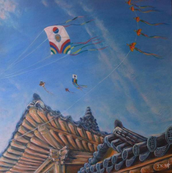 Wall Art - Painting - Fly Up High by Jennifer Kwon