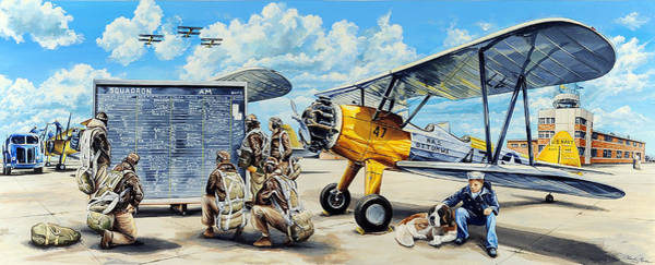 Air War Painting - Flyers In The Heartland by Charles Taylor