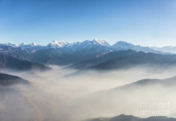 Photograph - Flying Above The Clouds In The Himalayas In Nepal by Didier Marti