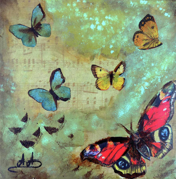 Wall Art - Painting - Flying by Areti Ampi