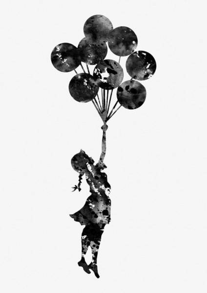 Wall Art - Digital Art -  Flying Balloons by Erzebet S