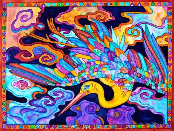 Flying Crane Art Print