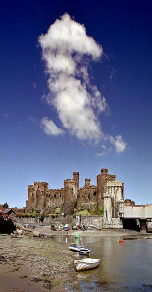 Flying Dragon Conwy Castle Art Print