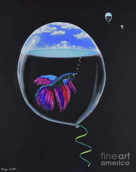 Painting - Flying Fish by Mary Scott