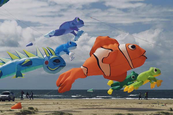 Kite Festival Wall Art - Photograph - Flying Fish by Wedigo Ferchland