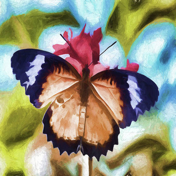 Digital Art - Flying Flower by OLena Art - Lena Owens