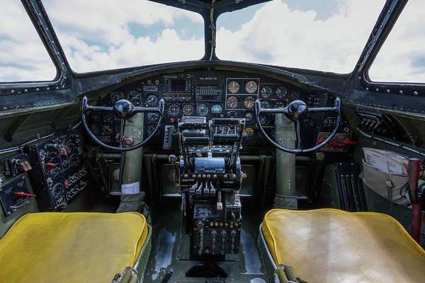 B24 Photograph - Flying Fortress Cockpit by Mike Burgquist