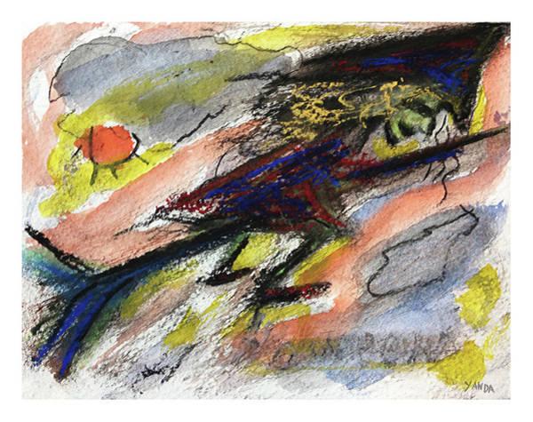 Painting - Flying Halloween Witch by Katt Yanda