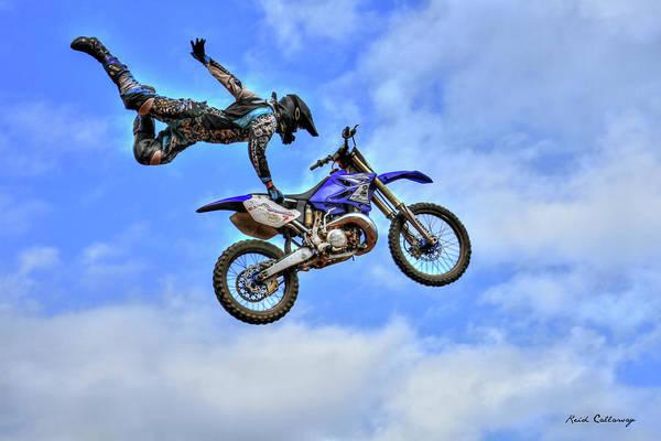 Dirt Bike Photograph - Flying High 5 by Reid Callaway