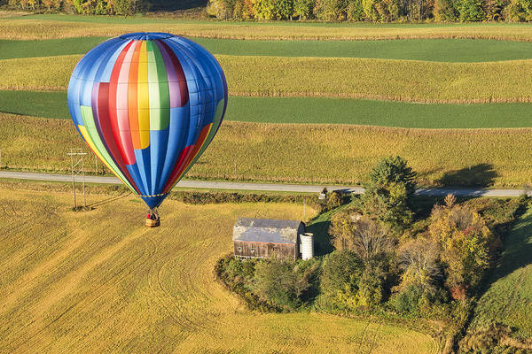 Photograph - Flying Hight Over New York State by Jim Vallee