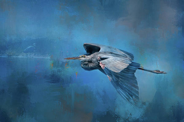 Photograph - Flying Home Blue Heron Art by Jai Johnson