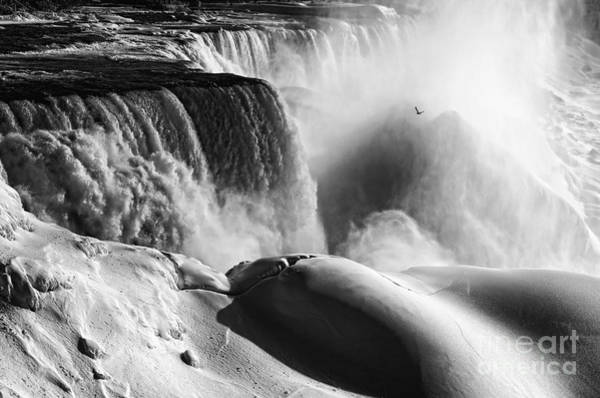 Niagara Falls State Park Photograph - Flying In Ice And Snow by Charline Xia
