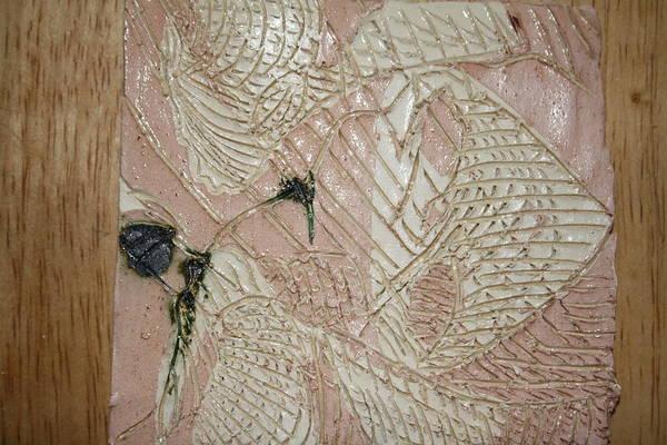 Ceramic Art - Flying Kisses  - Tile by Gloria Ssali