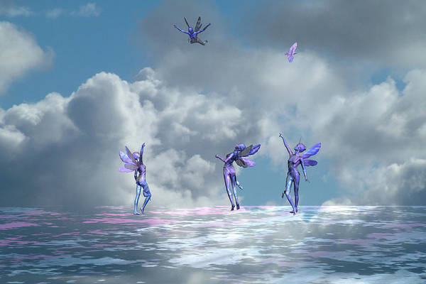 Bryce Digital Art - Flying Lessons by Claude McCoy