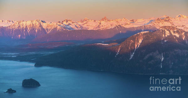 Petersburg Photograph - Flying Past The Coast Range And Devils Thumb At Dusk by Mike Reid
