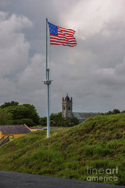 Photograph - Flying Proud Over Fort Moultrie by Dale Powell