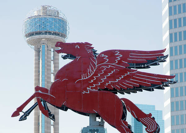 Photograph - Two Dallas City Symbols Past And Present by Rospotte Photography