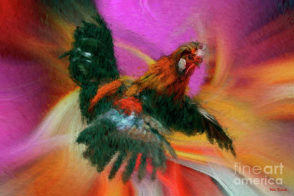 Photograph - Flying Rooster by Blake Richards