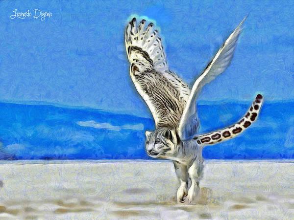 Puma Digital Art - Flying Tiger - Da by Leonardo Digenio