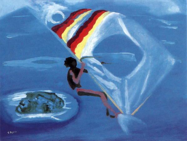 Painting - Flying Windsurfer by Enrico Garff