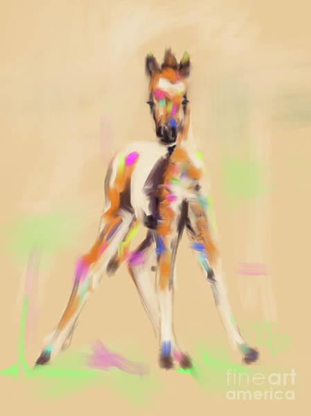 Painting - Foal Cute Fellow by Go Van Kampen