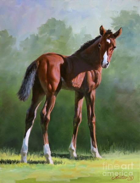 Jeanne Newton Schoborg Wall Art - Painting - Foal Study by Jeanne Newton Schoborg