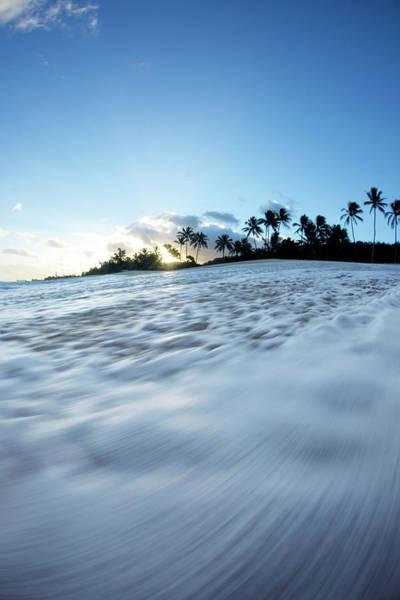 Shutter Speed Photograph - Foam Beach by Sean Davey