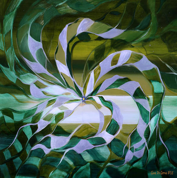 King Size Painting - Focus - Abstract In Green And Yellow by Gina De Gorna
