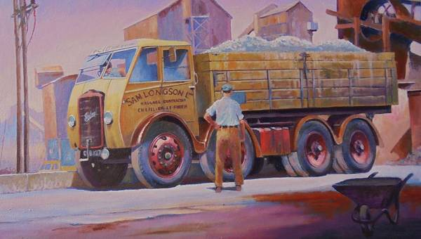 Wall Art - Painting - Foden Dg On The Limit. by Mike Jeffries