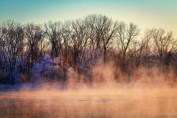 Wall Art - Photograph - Fog And Frost On The Wisconsin River 2017-1 by Thomas Young
