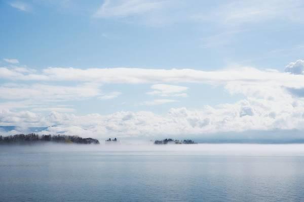 Wall Art - Photograph - Fog Bank And Clouds by Allan Van Gasbeck