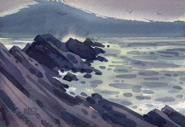 Jetty Painting - Fog Bank by Donald Maier