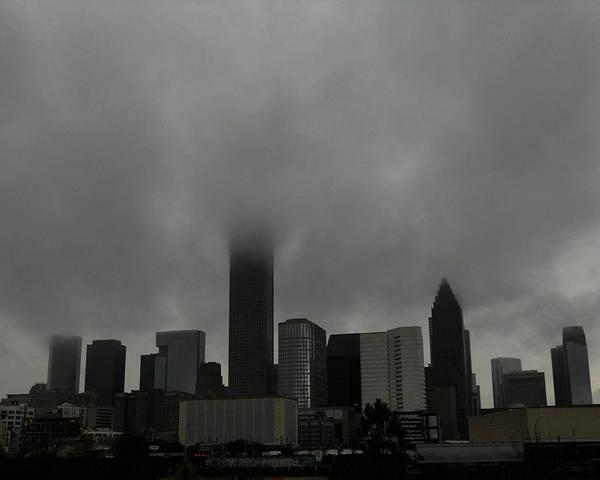 Photograph - Fog Enshrouded City by Maggy Marsh